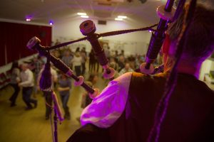 Piping Hot Ceilidh - Playing the bagpipes at a Birthday celebration